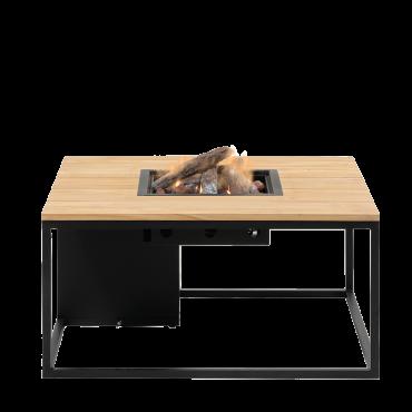 Cosiloft 100 lounge table black / teak