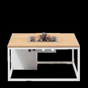 Cosiloft 100 lounge table white / teak