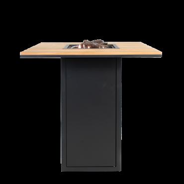 Cosiloft 100 bar table black / teak