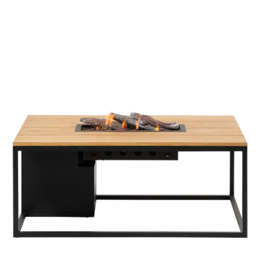 Cosiloft 120 lounge table black / teak